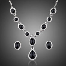 Load image into Gallery viewer, Black Crystal Jewelry Set - KHAISTA Fashion Jewellery