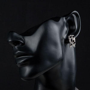 Black Leopard Design Clip Earrings -KPE0076 - KHAISTA Fashion Jewellery