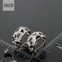 Load image into Gallery viewer, Black Leopard Design Clip Earrings -KPE0076 - KHAISTA Fashion Jewellery