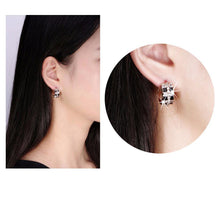 Load image into Gallery viewer, Black Zircon Stud Earrings-khaista-KOME20-4