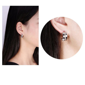 Black Zircon Stud Earrings-khaista-KOME20-4