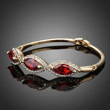 Load image into Gallery viewer, Blood Red Cubic Zirconia Bangle -KBQ0052 - KHAISTA Fashion Jewelry