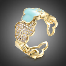 Load image into Gallery viewer, Blue Cloud Cubic Zirconia Ring - KHAISTA Fashion Jewellery