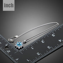 Load image into Gallery viewer, Blue Crystal Waterdrop Pendant Necklace KPN0169 - KHAISTA Fashion Jewellery