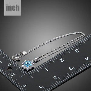 Blue Crystal Waterdrop Pendant Necklace KPN0169 - KHAISTA Fashion Jewellery
