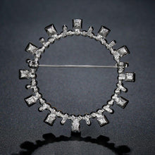 Load image into Gallery viewer, Blue Square Austrian Crystals Geometric Brooch -KFJB0108 - KHAISTA5