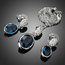 Load image into Gallery viewer, Blue Water Earrings & Necklace Set - KHAISTA Fashion Jewellery