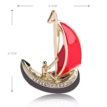 Load image into Gallery viewer, Boat Sail Brooch Pin - KHAISTA Fashion Jewellery