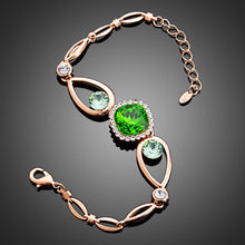Load image into Gallery viewer, Bold Green Stone Designer Bracelet - KHAISTA Fashion Jewellery
