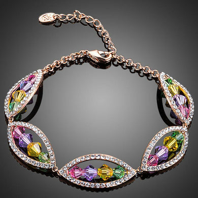 Budding Flower Crystal Bracelet - KHAISTA Fashion Jewellery