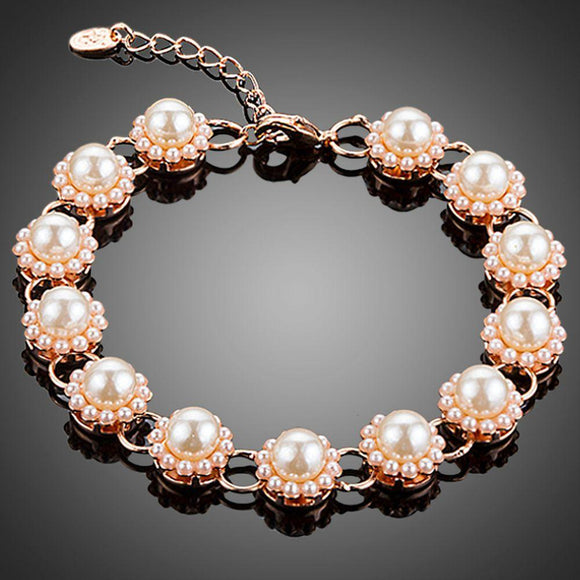 Budding Flower Pearl Bracelet - KHAISTA Fashion Jewellery