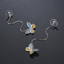 Load image into Gallery viewer, Butterfly Drop Earrings -KPE0376 - KHAISTA Fashion Jewellery