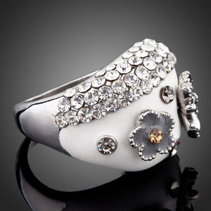Butterfly Flower Party Ring - KHAISTA Fashion Jewellery