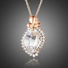 Load image into Gallery viewer, Butterfly on Crystal Pendant Necklace - KHAISTA Fashion Jewellery