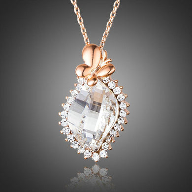Butterfly on Crystal Pendant Necklace - KHAISTA Fashion Jewellery