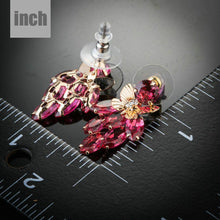 Load image into Gallery viewer, Butterfly on Raspberry Drop Earrings - KHAISTA Fashion Jewellery