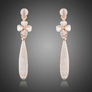 Cactus Flower Drop Earrings - KHAISTA Fashion Jewellery