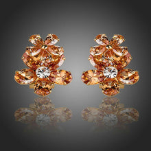 Load image into Gallery viewer, Champagne Buttercup Stud Earrings - KHAISTA Fashion Jewellery