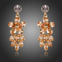 Load image into Gallery viewer, Champagne Cluster Drop Earrings -KPE0110 - KHAISTA Fashion Jewellery