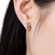 Load image into Gallery viewer, Champagne Cubic Zirconia Earrings -KPE0314 - KHAISTA Fashion Jewellery