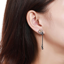 Load image into Gallery viewer, Champagne Flower Drop Earrings -KPE0368 - KHAISTA Fashion Jewellery