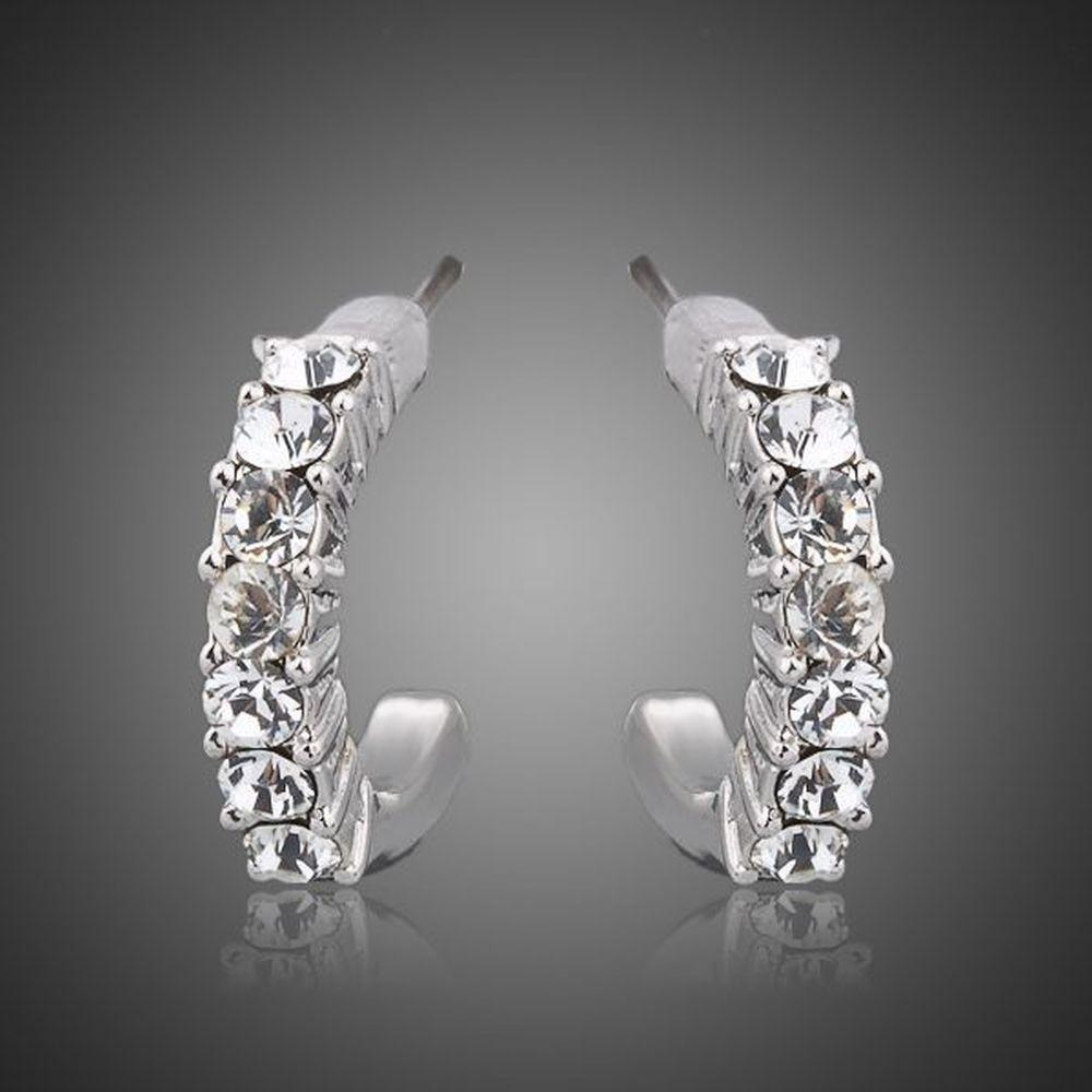 Classic Crystal Stud Earrings - KHAISTA Fashion Jewellery