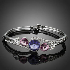 Classic Crystals Bangle -KBQ0045 - KHAISTA Fashion Jewelry