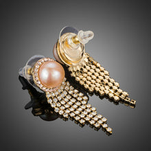 Load image into Gallery viewer, Claw Chain Pearl Earrings - KHAISTA Fashion Jewellery