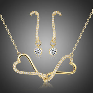 Clear Cubic Zirconia Infinit Love Jewellery Set - KHAISTA Fashion Jewellery