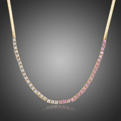 Clear Cubic Zirconia Long Pendant KPN0297 - KHAISTA Fashion Jewellery