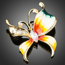 Load image into Gallery viewer, Clear Zirconia Artistic Butterfly Lapel Pin - KHAISTA Fashion Jewellery