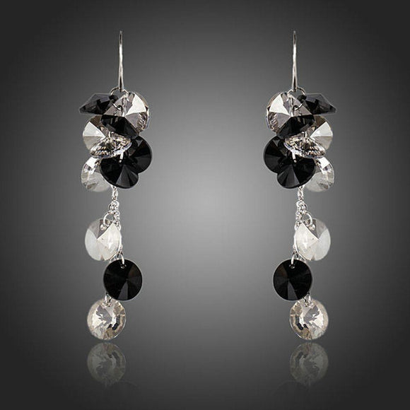 Cluster Crystal Drop Earrings - KHAISTA Fashion Jewellery