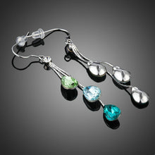 Load image into Gallery viewer, Color Raindrops Crystal Drop Earrings - KHAISTA Fashion Jewellery