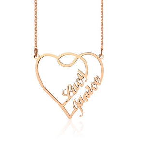 Connected Hearts Name Necklace - KHAISTA