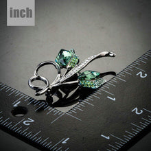 Load image into Gallery viewer, Couple Budding Flowers Pin Brooch - KHAISTA Fashion Jewellery
