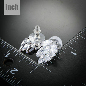 Coupled Cubic Zirconia Cluster Stud Earrings - KHAISTA Fashion Jewellery