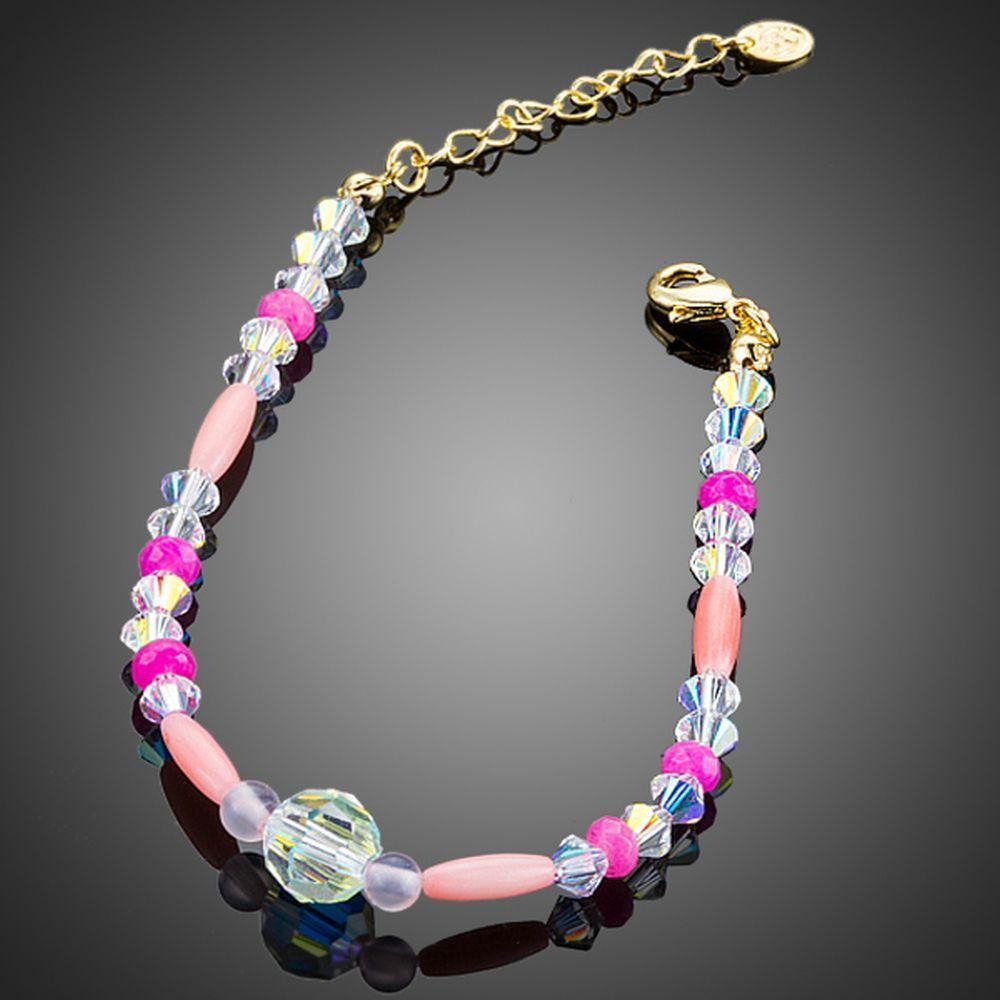 Crystal Beads Lobster Bracelet - KHAISTA Fashion Jewellery