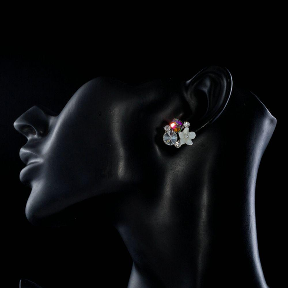 Crystal Bouquet Stud Earrings - KHAISTA Fashion Jewellery