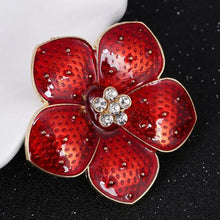 Load image into Gallery viewer, Crystal Flower Brooch - KHAISTA Fashion Jewellery