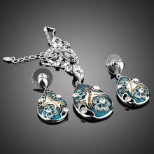 Load image into Gallery viewer, Crystal Pendant Earring and Pendant Necklace Jewelry Set - KHAISTA Fashion Jewellery
