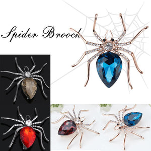 Crystal Spider Brooch - KHAISTA Fashion Jewellery