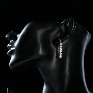 Crystal Steps Drop Earrings - KHAISTA Fashion Jewellery