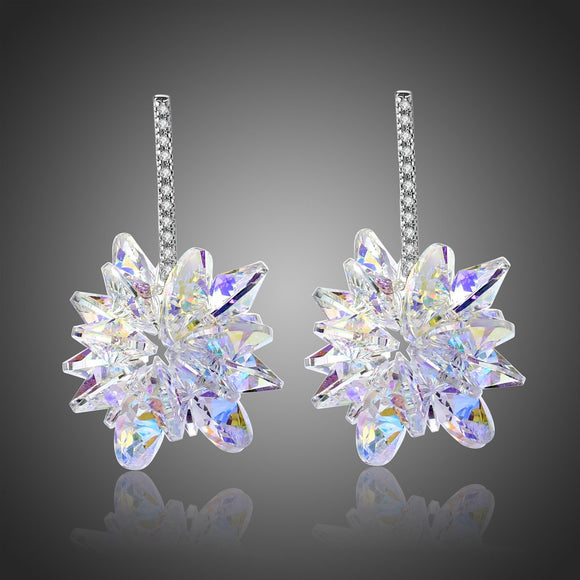Crystals Dangle Earrings -KPE0334 - KHAISTA Fashion Jewellery
