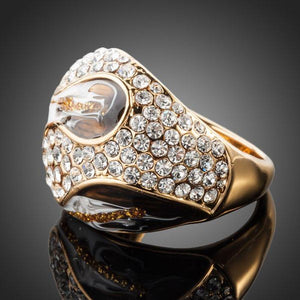 Crystals Design Golden Ring -KFR0090 - KHAISTA