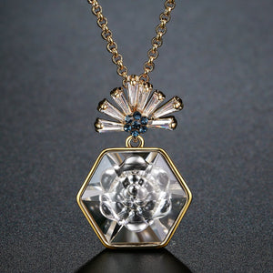 Crytal Pendant Necklace for Women KPN0283 - KHAISTA Fashion Jewellery