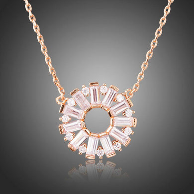 Cubic Zirconia Chain Necklace KPN0229 - KHAISTA Fashion Jewellery