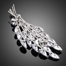 Load image into Gallery viewer, Cubic Zirconia Feather Design Brooch Pin - KHAISTA Fashion Jewellery