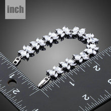 Load image into Gallery viewer, Cubic Zirconia Flower Garland Bracelet-MB0119-khaista-3