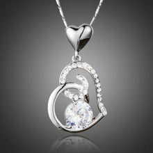 Load image into Gallery viewer, Cubic Zirconia Heart Pendant Necklace KPN0156 - KHAISTA Fashion Jewellery