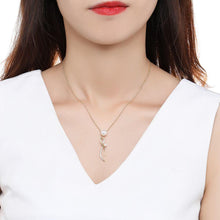 Load image into Gallery viewer, Cubic Zirconia Pearl Necklace Pendant - KHAISTA Fashion Jewellery